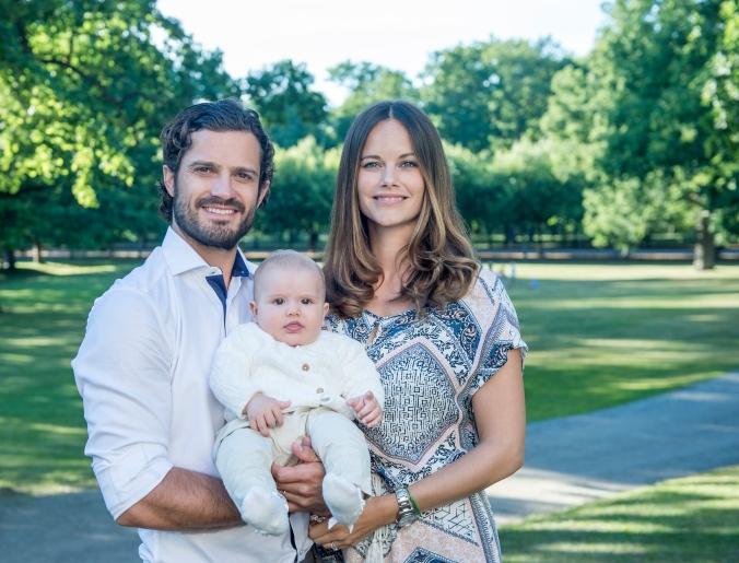 Prins Carl Philip, Prinsessan Sofia och Prins Alexander. Augusti 2016.