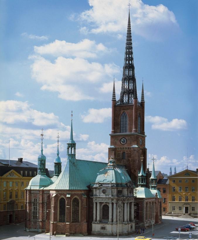 Riddarholmskyrkan, Stockholm.The Riddarholmen Church.
