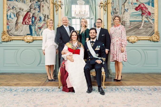 H.K.H. Prins Gabriels dop i Drottningholms Slottskyrka 1 december 2017 / HRH Prince Gabriel's christening at Drottningholm Palace Chapel, December 1, 2017