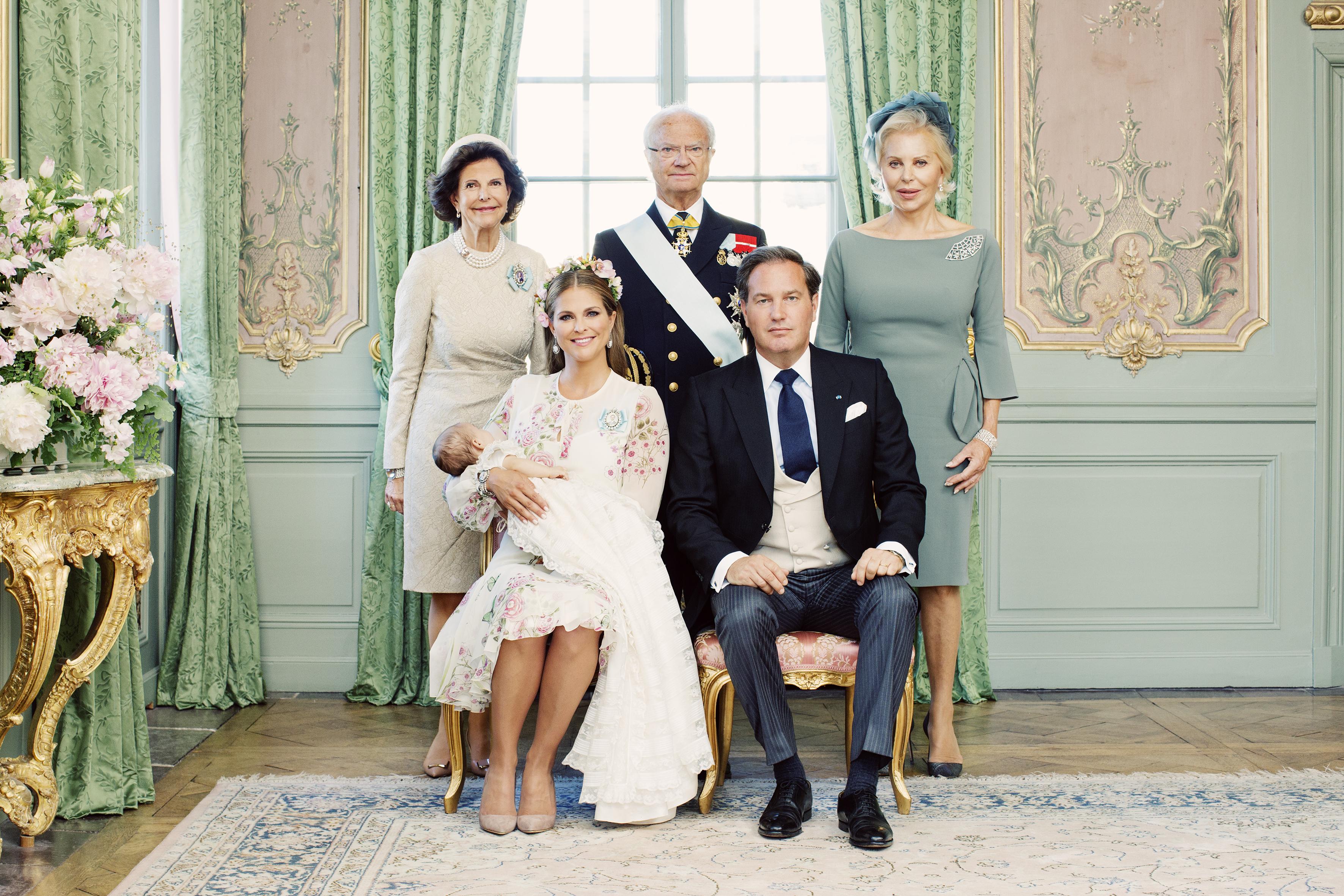 H.K.H. Prinsessan Adriennes dop, Drottningholms Slottskyrka 8 juni 2018. HRH Princess Adrienne's christening in Drottningholm Palace Chapel, June 8, 2018