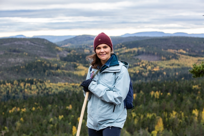 2018-10-03, Landskapsvandringar, ÅngermanlandOnsdagen den 3 oktober 2018 besökte Kronprinsessan Ångermanland för att genomföra sin femtonde landskapsvandring. Vandringen gick genom Skuleskogens nationalpark. Vandringen startade vid nationalparkens v